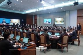 문재인 대통령, 영상 국무회의 개최